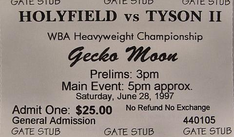Holyfield VS Tyson 2 Vintage Ticket