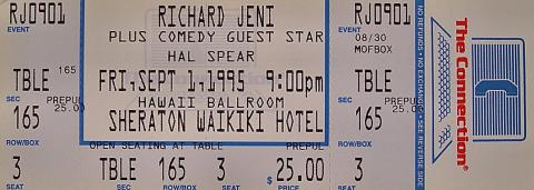 Richard Jeni Vintage Ticket