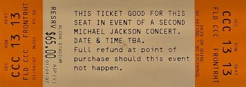 Michael Jackson Vintage Ticket