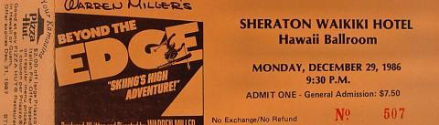 Beyond The Edge Vintage Ticket