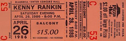 Kenny Rankin Vintage Ticket