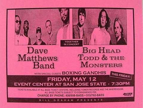 Dave Matthews Band Handbill