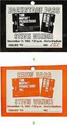 Stevie Wonder Backstage Pass