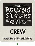 The Rolling Stones Backstage Pass