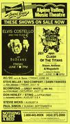 Elvis Costello Handbill