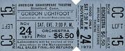 Gordon Lightfoot Vintage Ticket