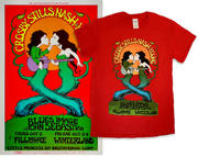 Crosby, Stills, Nash & Young Poster/Men's T-Shirt Bundle