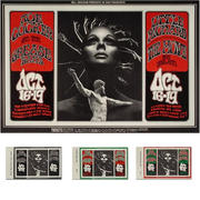Joe Cocker & The Grease Band Poster/Ticket Set