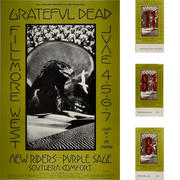 Grateful Dead Poster/Ticket Bundle