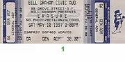 Erasure Vintage Ticket