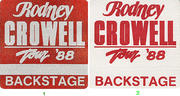 Rodney Crowell Backstage Pass