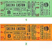 Sheena Easton Vintage Ticket