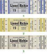 Lionel Richie Vintage Ticket