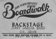 Jerry Garcia Band Backstage Pass