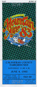 Mountain Aire '83 Vintage Ticket