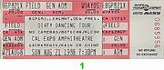 Dirty Dancing Tour Vintage Ticket