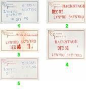 Lynyrd Skynyrd Backstage Pass
