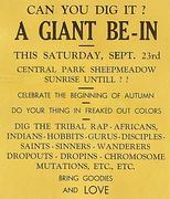 A Giant Be-In Handbill