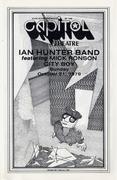 Ian Hunter Band Program