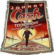 Johnny Cash Blanket/Throw