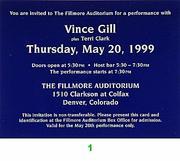Vince Gill Vintage Ticket
