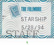 Jefferson Starship Backstage Pass