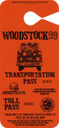 Woodstock '99 Backstage Pass