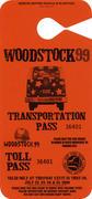 Woodstock '99 Backstage Pass
