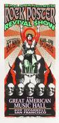 SF Rock Poster Revival Show Handbill