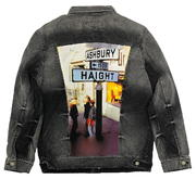 Haight Ashbury Street Sign Men's Denim Jacket