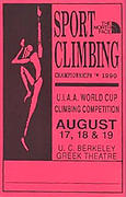 The World Cup Sport Climbing Championships 1990 Laminate