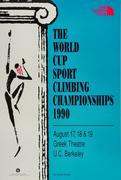 The World Cup Sport Climbing Championships 1990 Poster