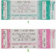 Indigo Girls Vintage Ticket