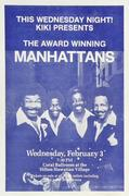 The Manhattans Handbill