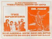 The Spinners Handbill