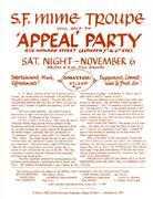 SF Mime Troupe Benefit - Appeal I Handbill