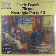 "Uncle Dave's 78rpm Nostalgia Party #3 Vinyl 12"" (New)"