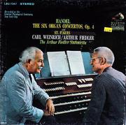 """Handel: The Six Organ Concertos, Op. 4 And Six Fugues Vinyl 12"""" (Used)"""
