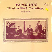 "Paper Hits (Hit Of The Week Recordings) Volume II Vinyl 12"" (New)"