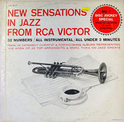 """New Sensations In Jazz From RCA Victor Vinyl 12"""" (Used)"""