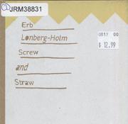 Erb / Lonberg-Holm CD