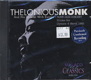 Thelonious Monk And His Quartet With Europe 1 CD