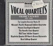Vocal Quartets Volume 5: M/N/O/R, Complete Recorded Works 1924 - 1928 CD