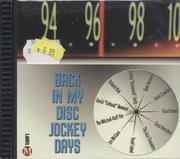 Back in My Disc Jockey Days CD