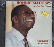 Ronnie Mathews CD