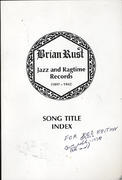 Song Title Index: Jazz and Ragtime Records (1897 - 1942) Book