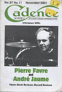 Cadence Magazine November 2001 Magazine