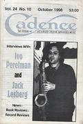 Cadence Magazine October 1998 Vintage Magazine