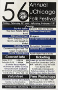 56th Annual UChicago Folk Festival Poster
