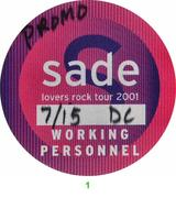 Sade Backstage Pass